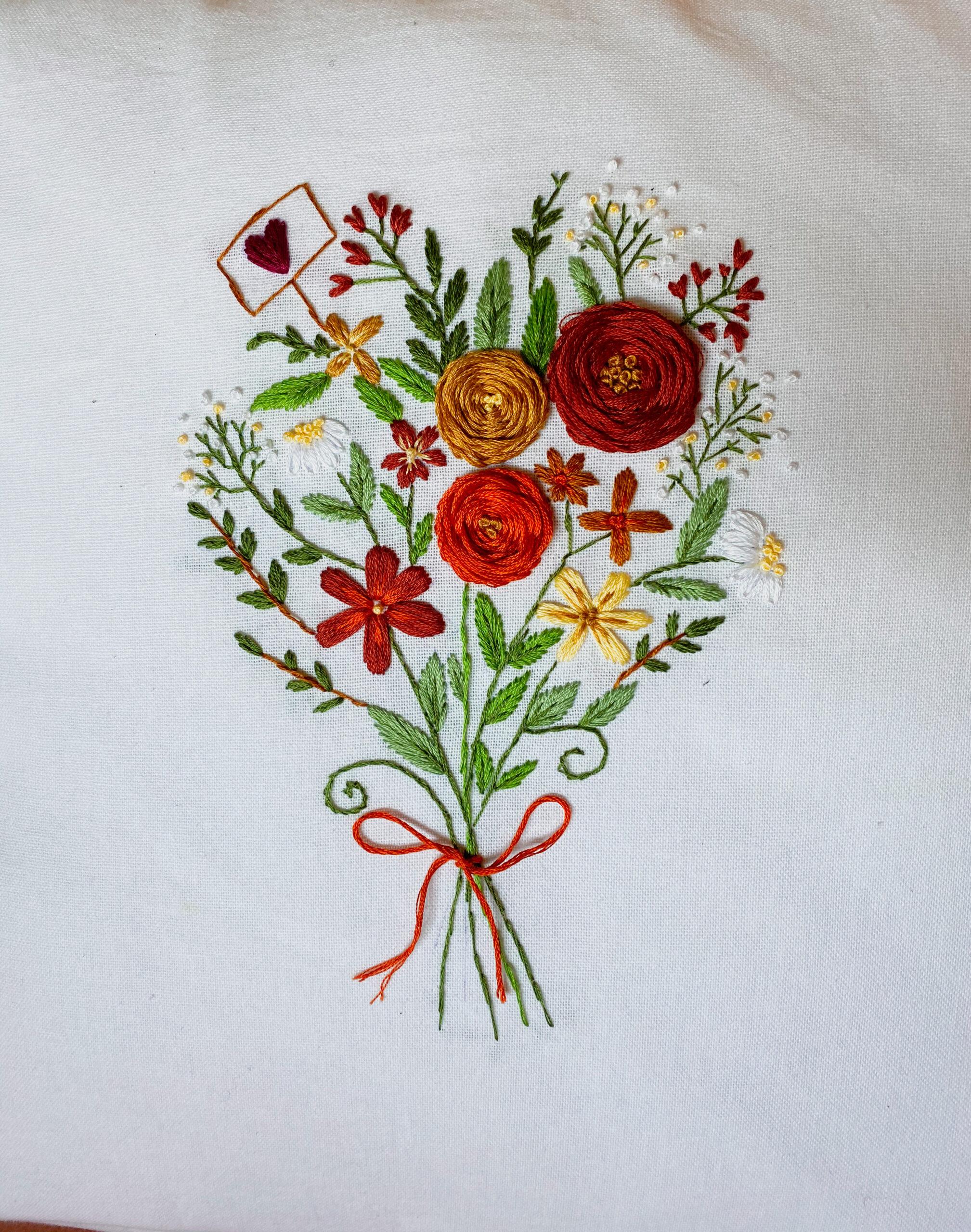 Stickvorlagen Blumenstrauß